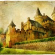 Fairy castles of France - artistic picture in painting style — Zdjęcie stockowe #51342031