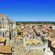 Постер, плакат: Narbonne panoramic view with cathedral south France