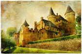 Fairy castles of France - artistic picture in painting style — Stock Photo