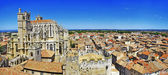 Narbonne , panoramic view with cathedral. south France — Stock Photo