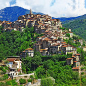 Beautiful hill top village Apricale - Liguria, Italy — Stock Photo