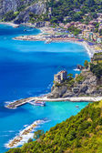 Pictorial coast of Italy, Liguria, Monterosso al mare — Stock Photo