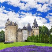 Impressive medieval castles of France, Dordogne region — Stock Photo
