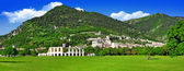 Panorama of Gubbio - medieval town in Umbria, Italy           — Stock Photo