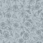 Romantik flowering seamless — Stockvektor