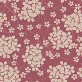 Seamless pattern of small flowers. Floral textile — Stock Vector