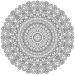 Asian ornamental lace. Decorative mandala - Stock Vector