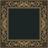 Vintage ornamental frame, invitation card — Stock Vector