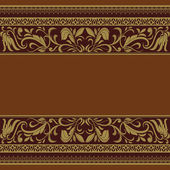 Ornamental frame, vintage pattern background, baroque design — Stock Vector