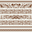 Set of borders and ornaments, in vintage style - Stock Vector