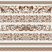 Set of borders and ornaments, in vintage style — Stock Vector