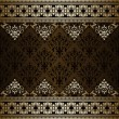 Royalty-Free Stock : Vintage  background, floral gold  ornament frame, elegance style