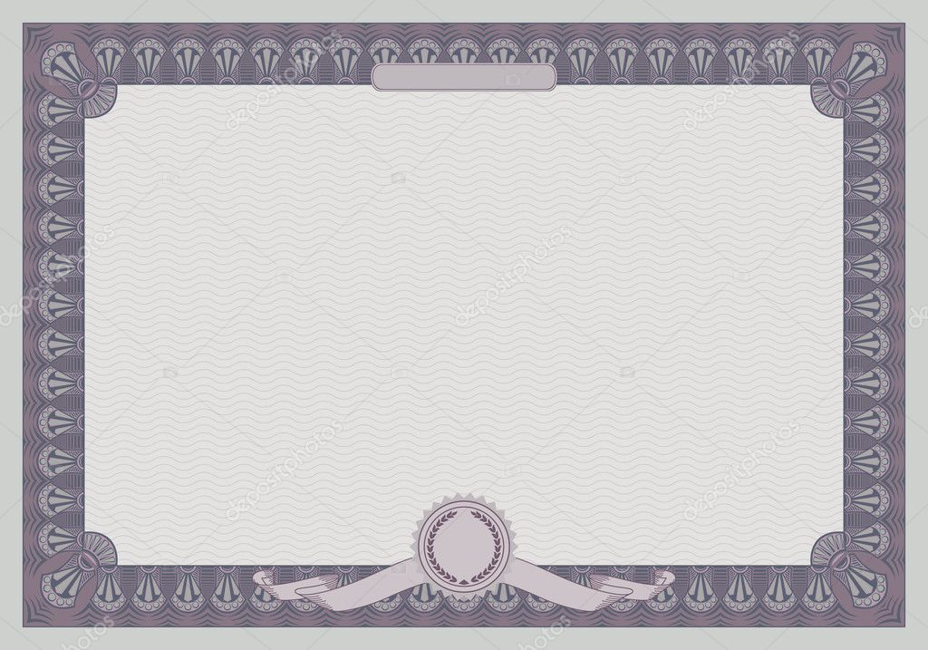 Certificate frame template retro style stock vector for Certificate frame template