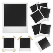 Polaroid photo frame on white background. Vector image — Stock Vector