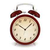 Retro alarm clock. Vector illustration — Stock Vector