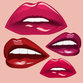 Lips, vector illustration. — Stock Vector