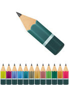 Set of vector pencils on white background — Vector de stock