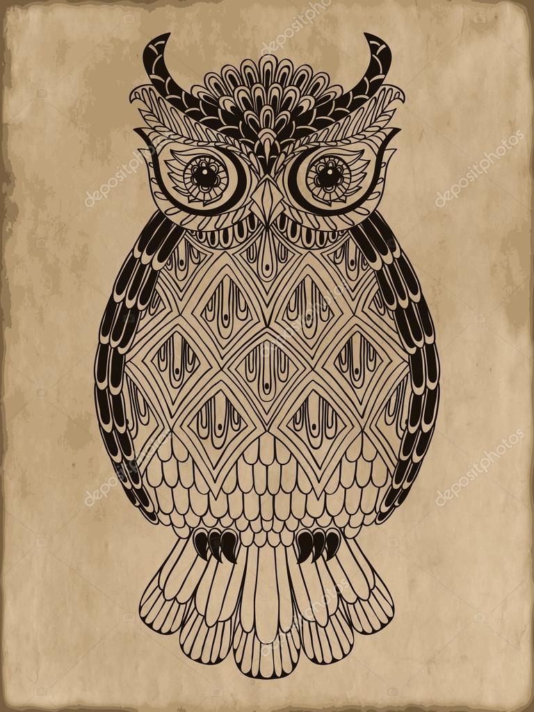 Vintage owl wallpaper - photo#26