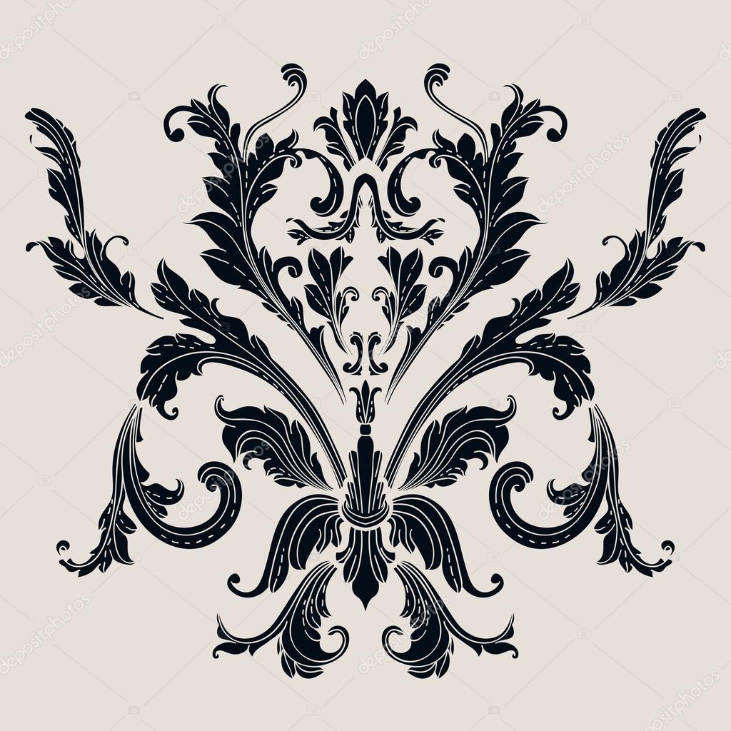 vintage baroque pattern stock vector natikka 32883177. Black Bedroom Furniture Sets. Home Design Ideas