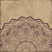 Paisley pattern on vintage background — Stock Vector