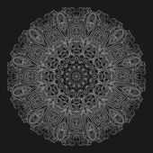 Ornamental floral mandala — ストックベクタ