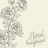 Quadro vintage de rosas, com um espaço vazio para mensagem de texto. ve — Vetor de Stock