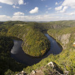 Meander of Vltava river — Stock Photo