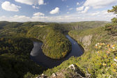 Meander of Vltava river — 图库照片