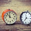 Old alarm clocks — Stockfoto