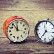 Old alarm clocks — Stock Photo #26721169