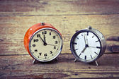 Old alarm clocks — Stock Photo