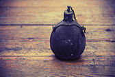 Old army bottle — Stock Photo