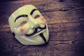 White anonymous mask — Stock Photo