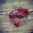 Dice on the table — Stock Photo