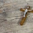 Beautiful old cross with jesus — Stock Photo