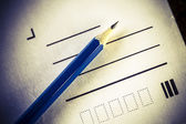 Pencil and letter — Stock Photo
