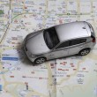 Travel concept - small car on Seoul city map — Stock Photo