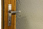 Silver door handle — Stock Photo