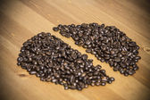 Bean from coffee beans on the table — Stock Photo