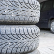 Tires of car — Stock Photo #34765643