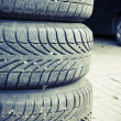 Stock Photo: Tires of car