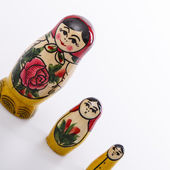 Russian Dolls Matryoshka Isolated on a white background — Zdjęcie stockowe