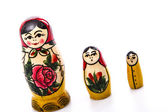 Russian Dolls Matryoshka Isolated on a white background — Foto Stock