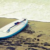 ビーチ、サーフィン ボード — ストック写真