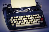 Paper in typewriter — ストック写真
