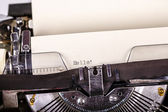 Paper in typewriter — Foto Stock