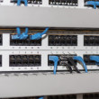 Server panel with cables and connectors — Stock Photo #44769045