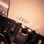 Old typewriter with text like — 图库照片