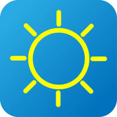 Weather web icon with sun — Stok fotoğraf