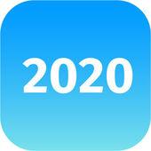 Icono de año 2020 azul — Foto de Stock